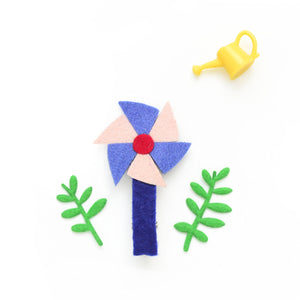 pinwheel clip // hello shiso hair accessories for girls