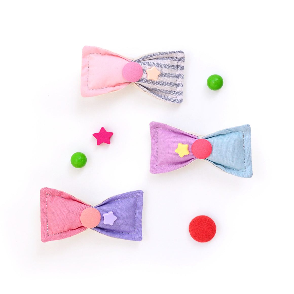 puff bow clip // hello shiso hair accessories for girls