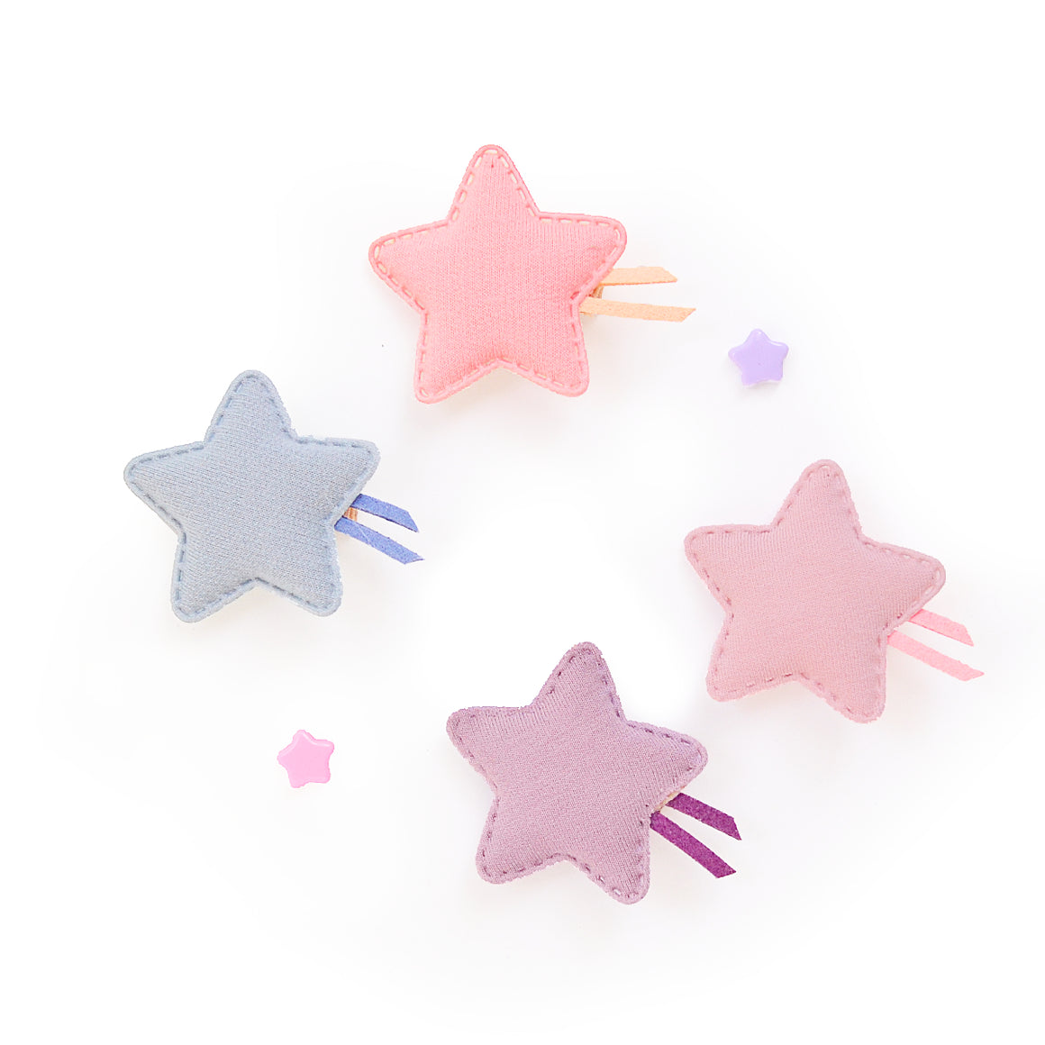 pastel puffy star // hello shiso hair accessories for girls