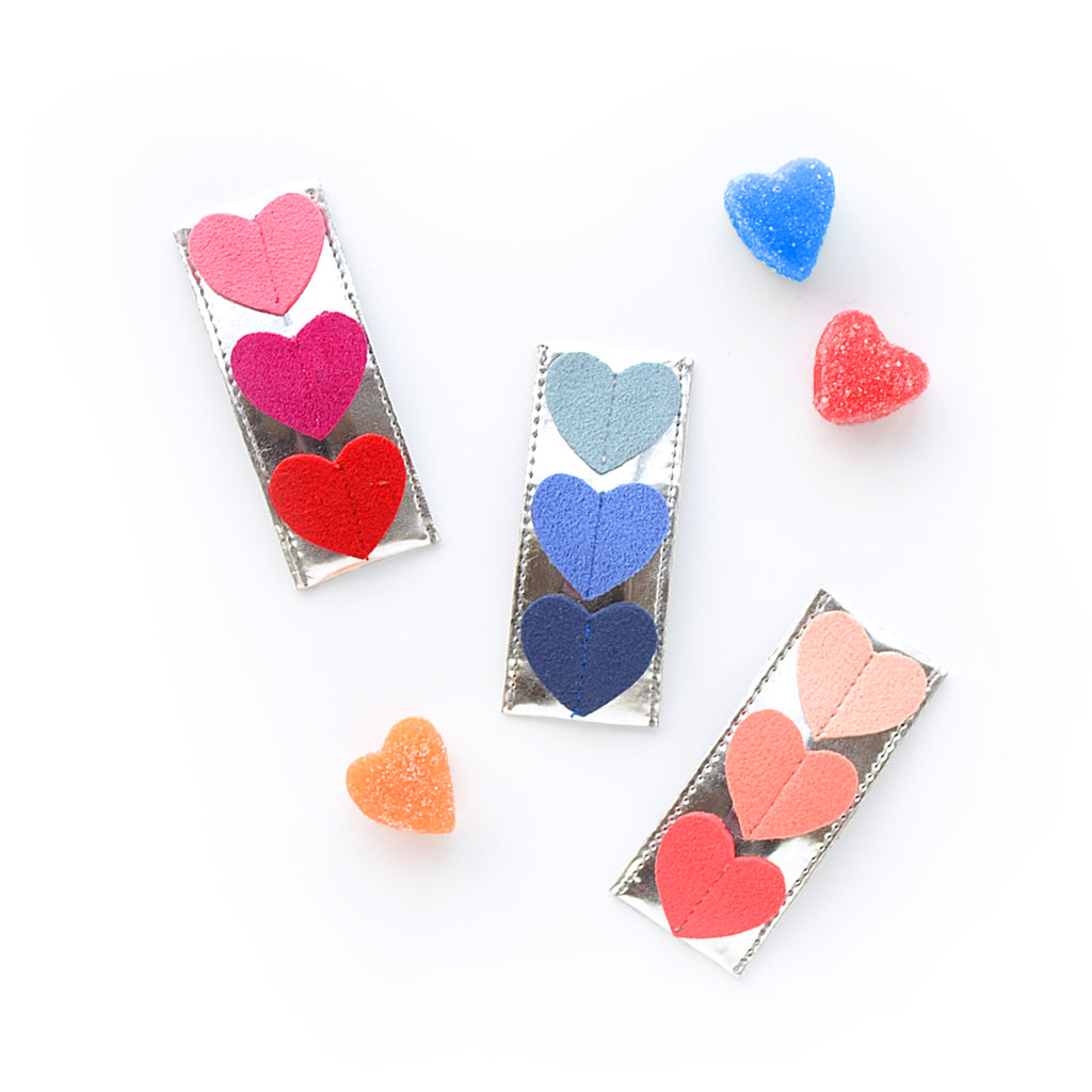 triple heart clip // hello shiso hair accessories for girls