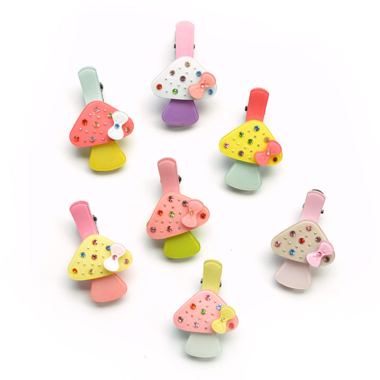 jeweled mushroom clip // hello shiso accessories for girls