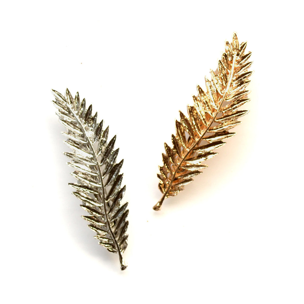 metal leaf clip for women // hello shiso hair accessories for girls