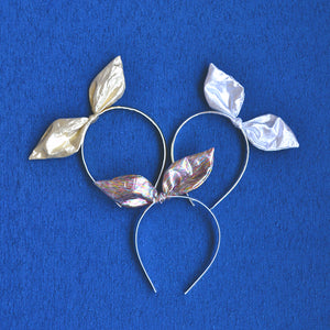 metallic bow headband // hello shiso hair accessories for girls and women