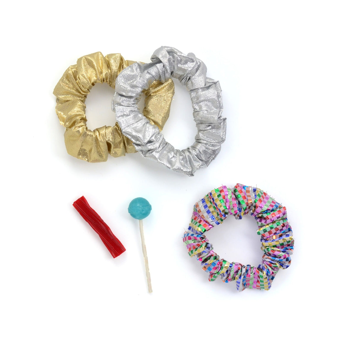 metallic scrunchie // hello shiso hair accessories for girls