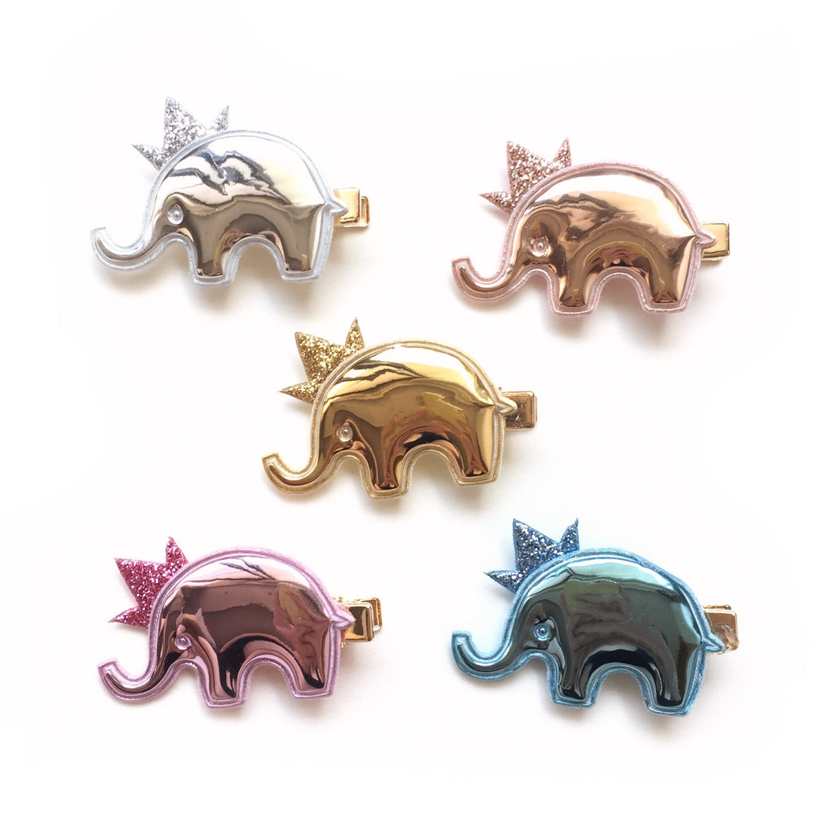 mylar elephant clip // hello shiso hair accessories for girls