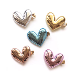 mylar heart clip // hello shiso hair accessories for girls