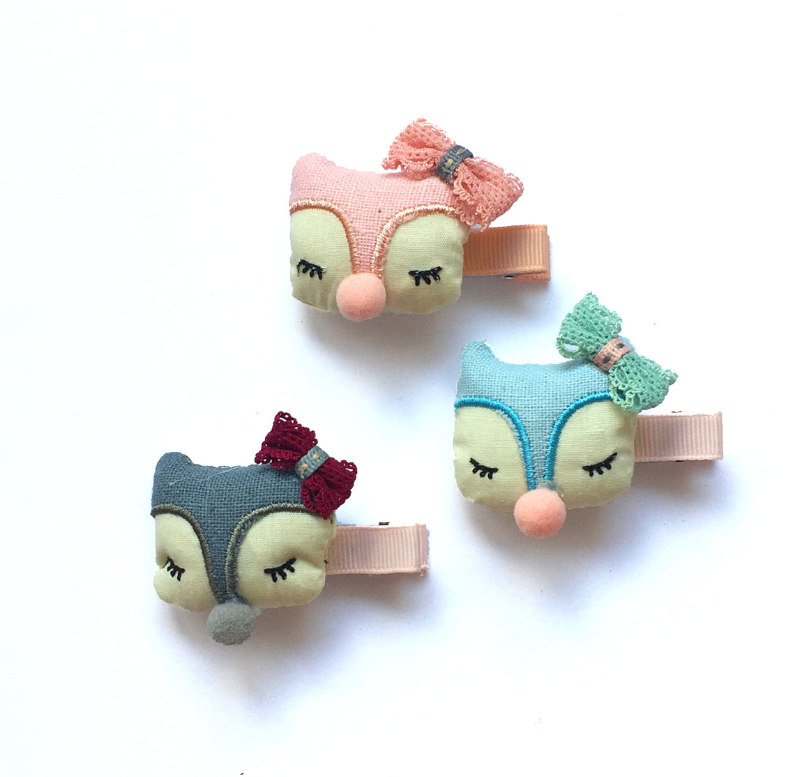 plush owl clip // hello shiso hair accessories for girls