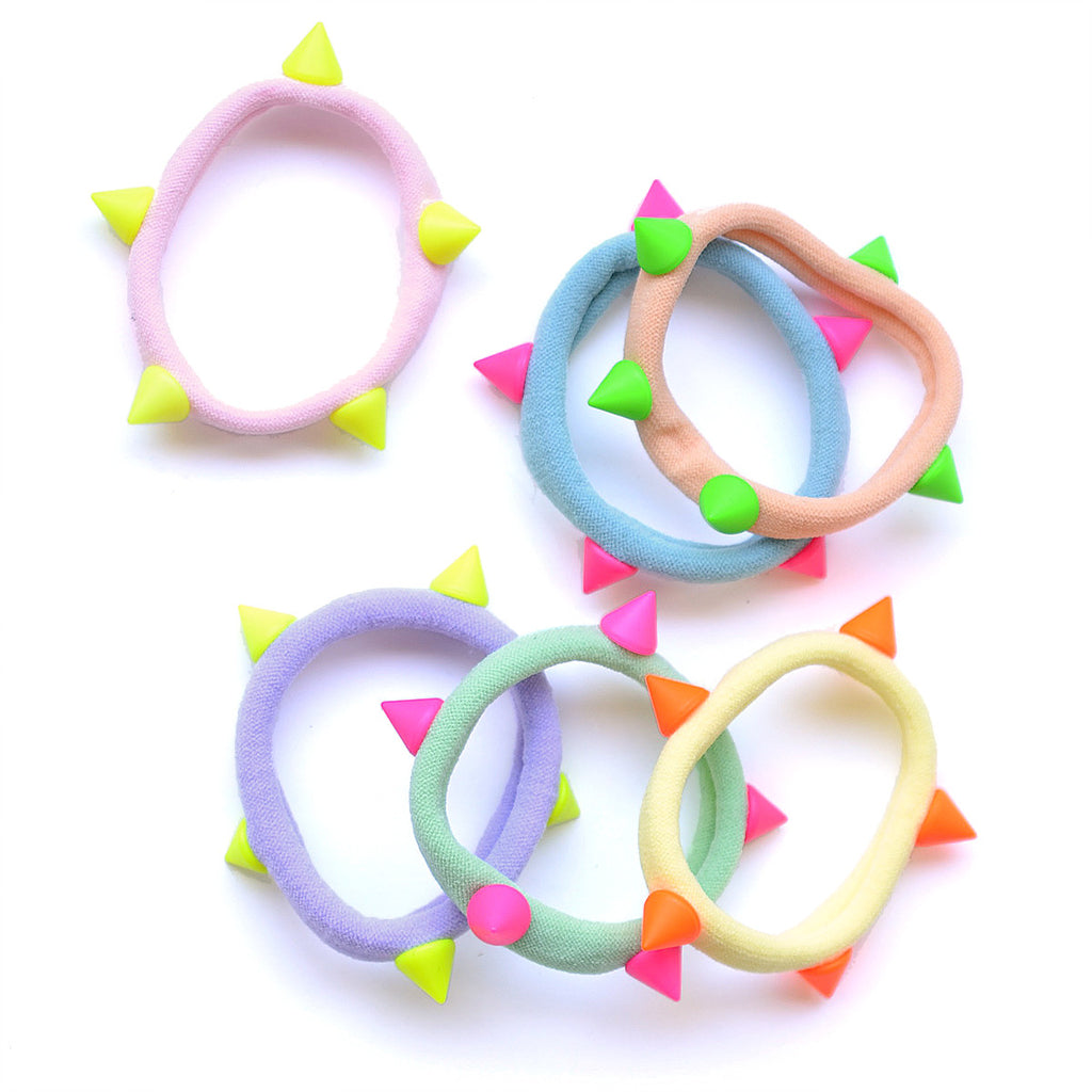 pastel/neon dome stud pony-o // hello shiso hair accessories for girls