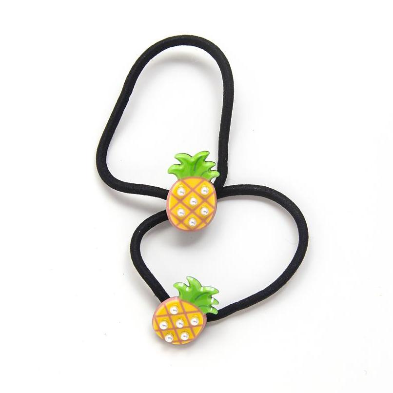 pineapple hair ties // hello shiso hair accessories for girls