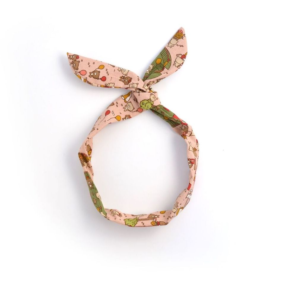 pink bear twist tie // hello shiso hair accessories for girls