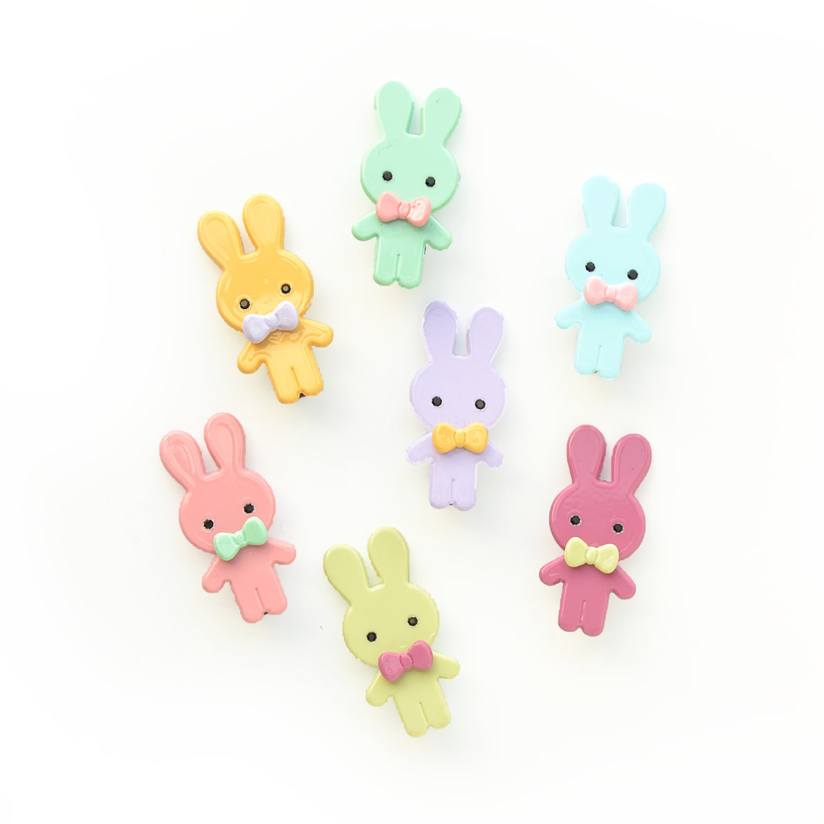 hello shiso hair accessories for girls // plastic bunny pinch clips