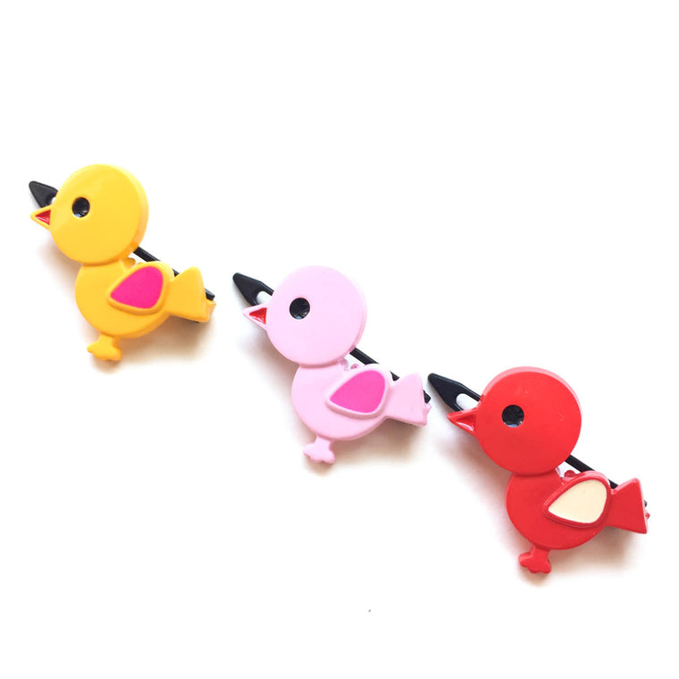 plastic chick clip // hello shiso hair accessories for girls