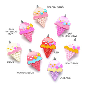 plastic ice cream clip // hello shiso hair accessories for girls