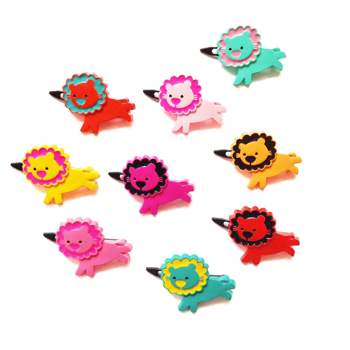 plastic lion clip // hello shiso hair accessories for girls