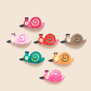plastic snail clips // hello shiso hair accessories for girls