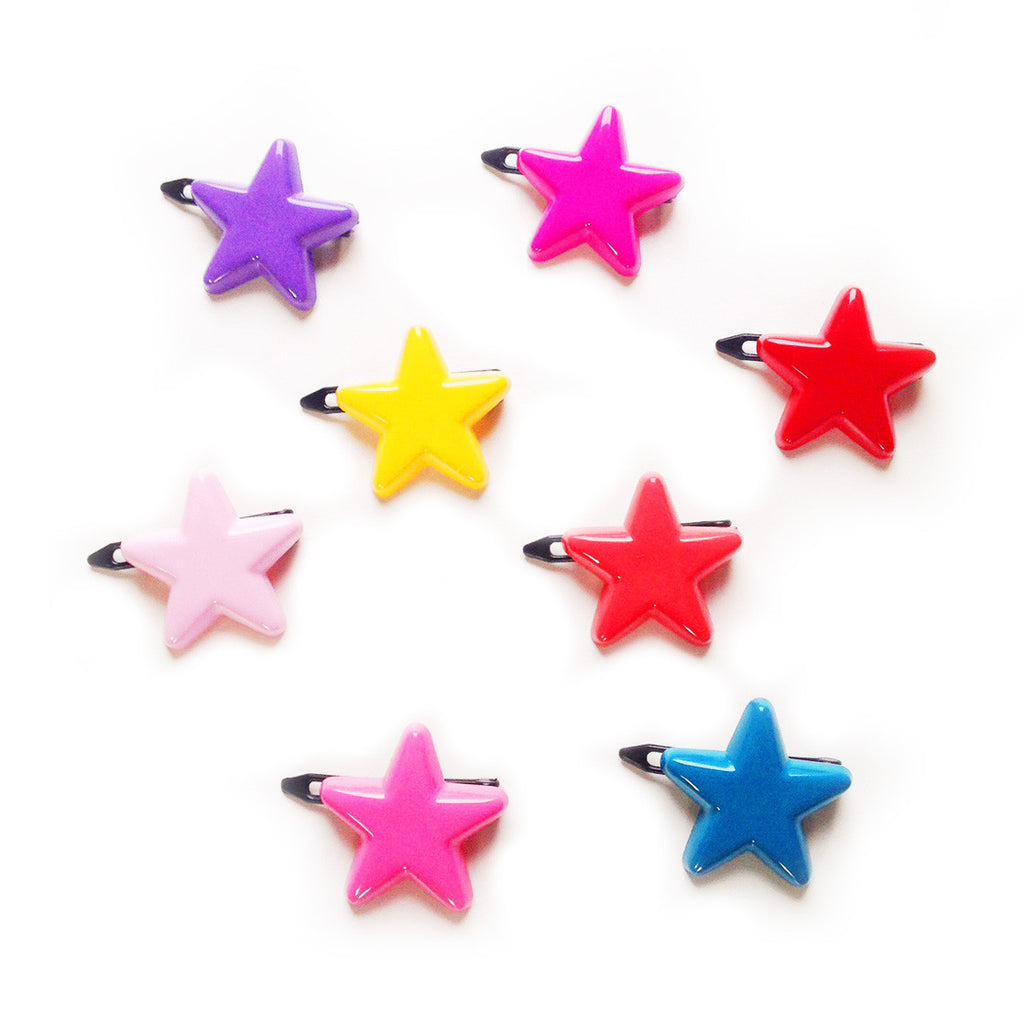 plastic star clip // hello shiso hair accessories for girls