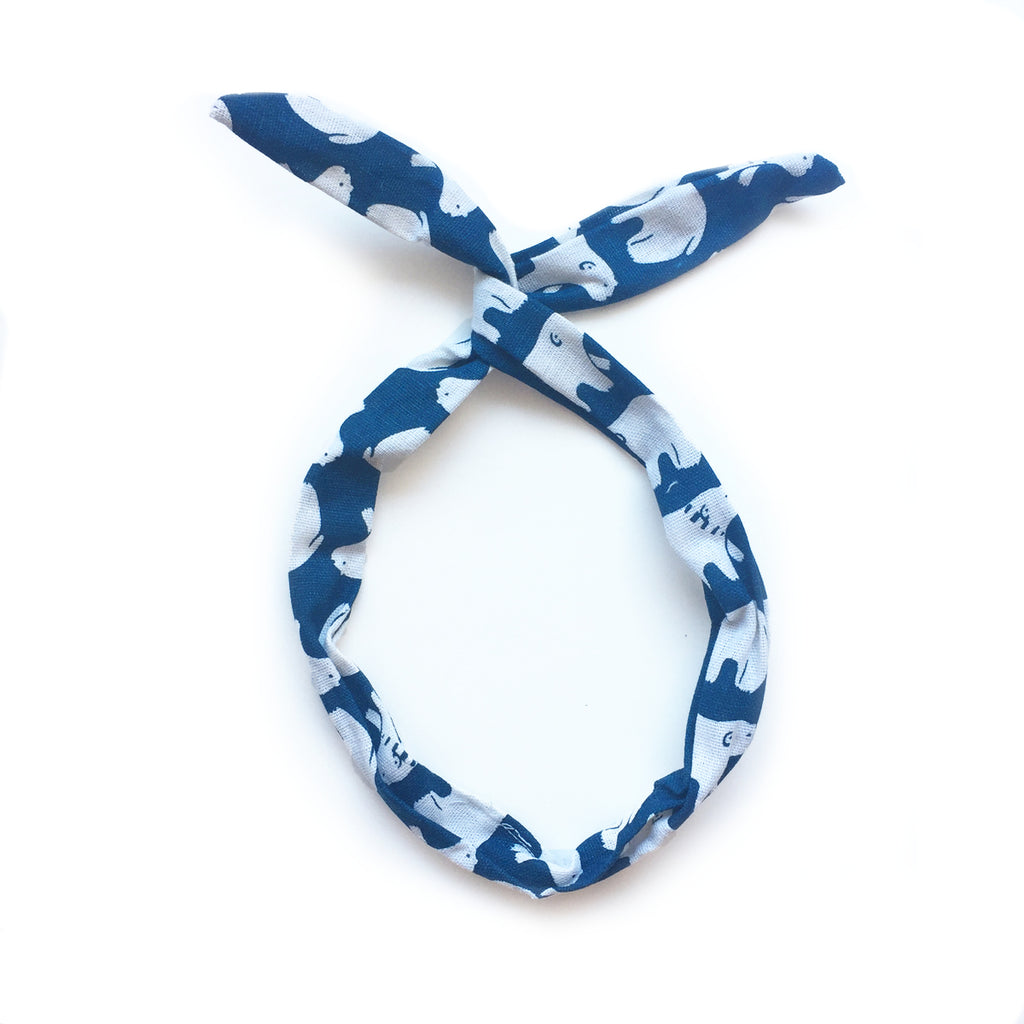 hello shiso hair accessories for girls and women // polar bear twist headband