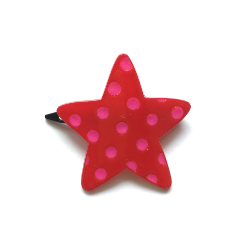polkadot star clip // hello shiso hair accessories for girls