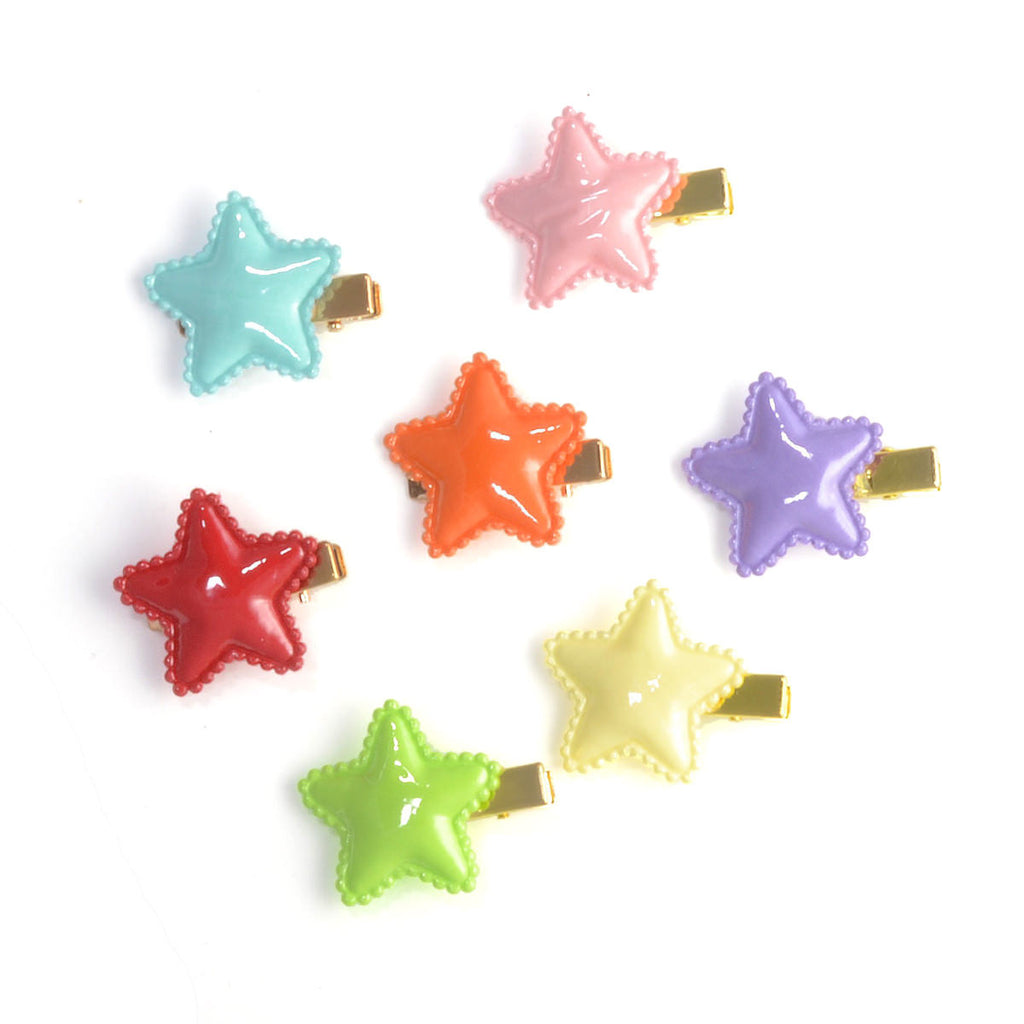 little puff star pinch clip // hello shiso hair accessories for girls