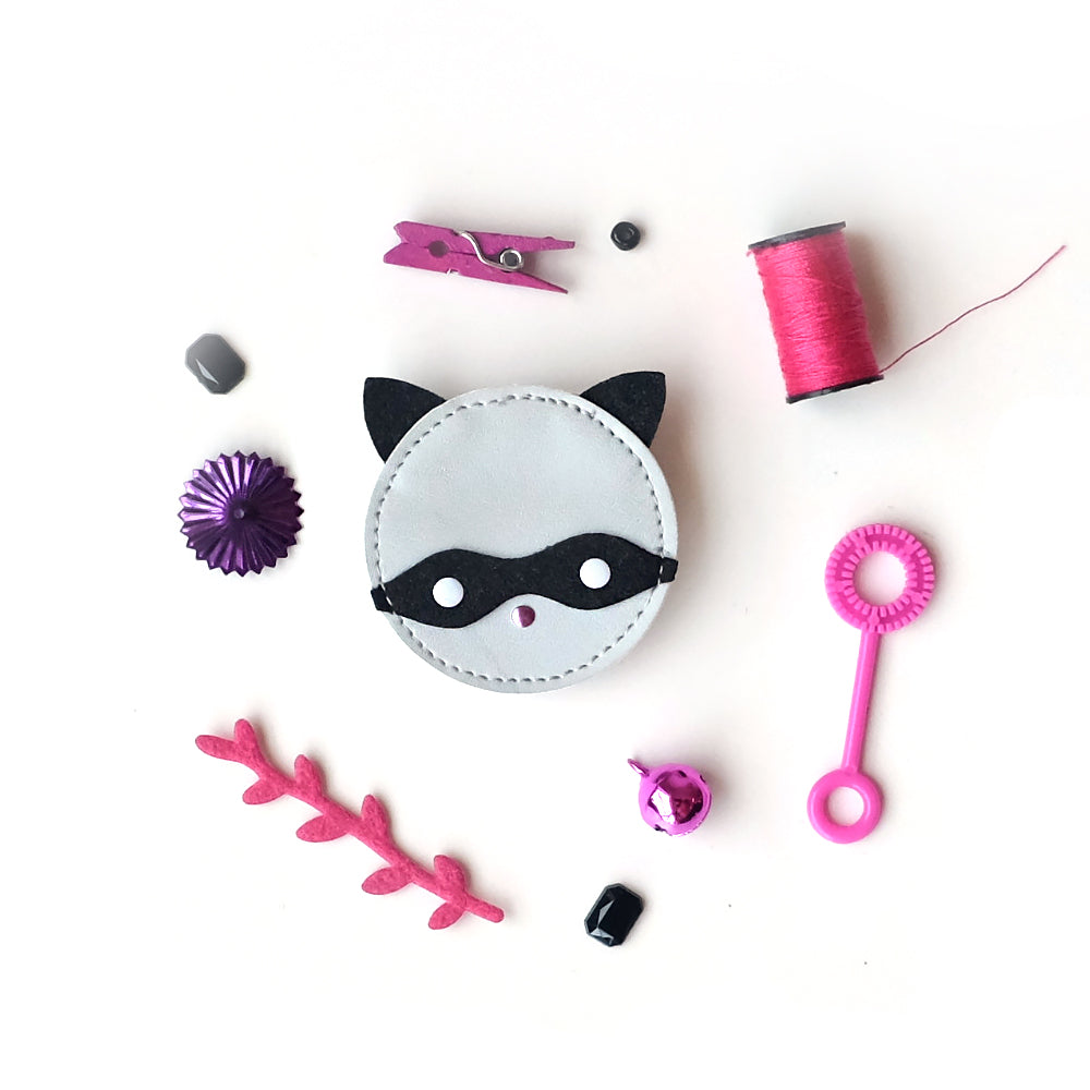Raccoon Bobby Hair Pin Clear And Distinctive Hair Care & Styling