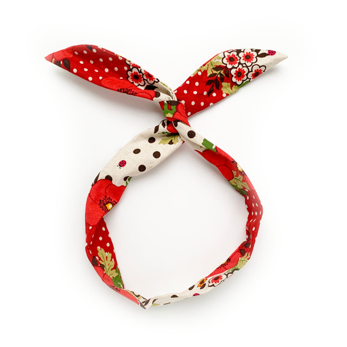 red poppy twist tie // hello shiso hair accessories for girls