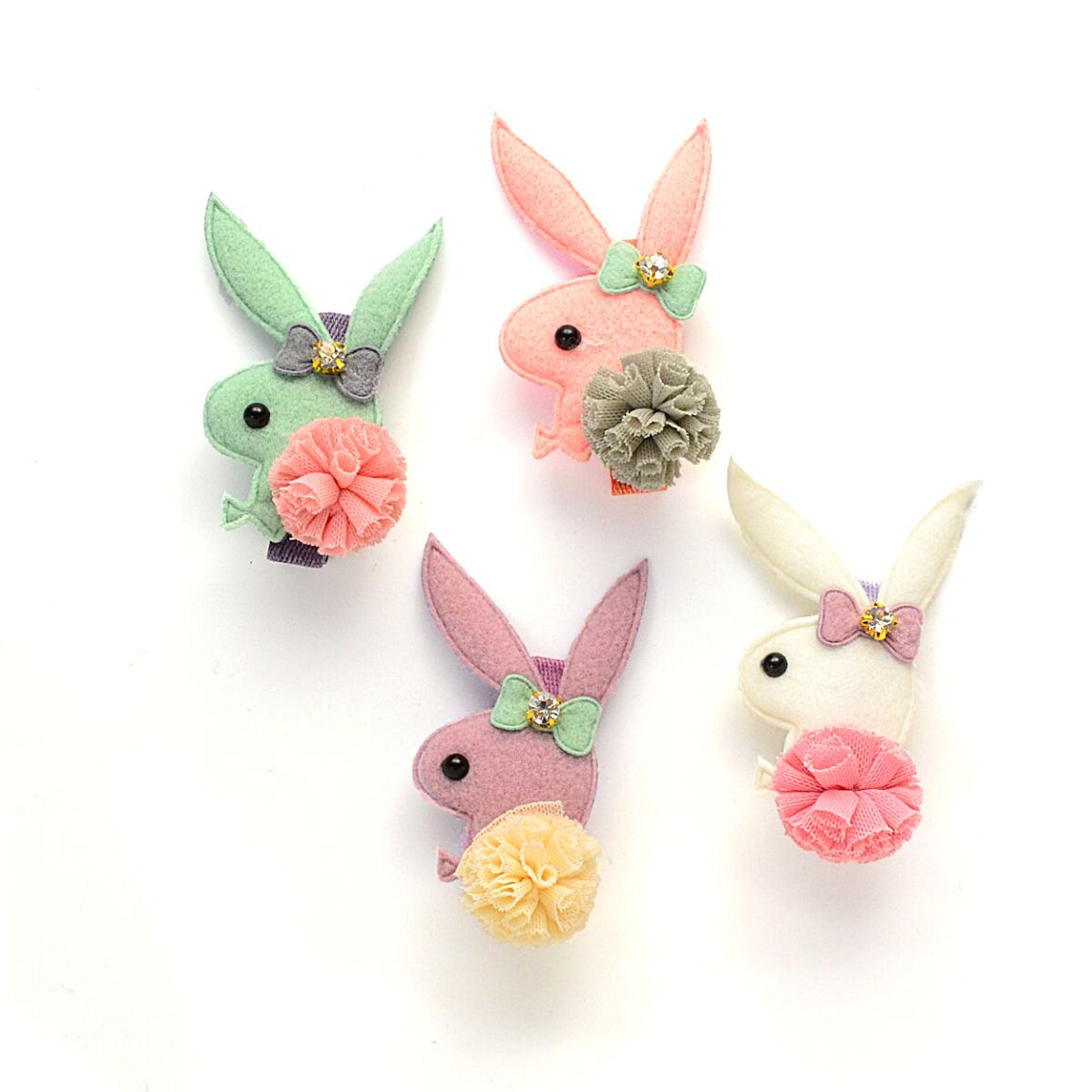 rhinestone bunny clip // hello shiso hair accessories for girls