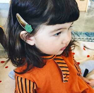 acorn + oak clips // hello shiso hair accessories for girls