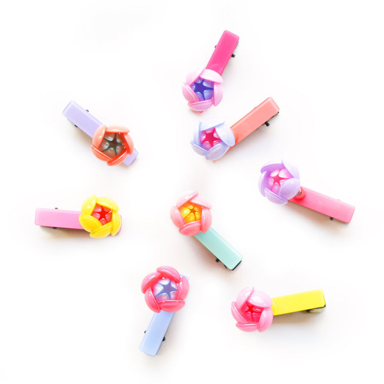 springy flower clip // hello shiso hair accessories for girls
