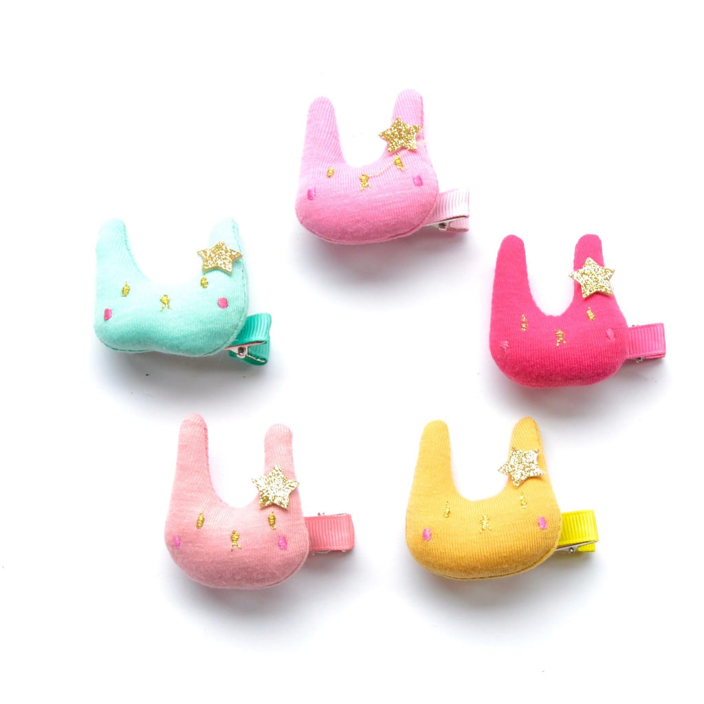 glitter star bunny hair clip // hello shiso accessories for girls