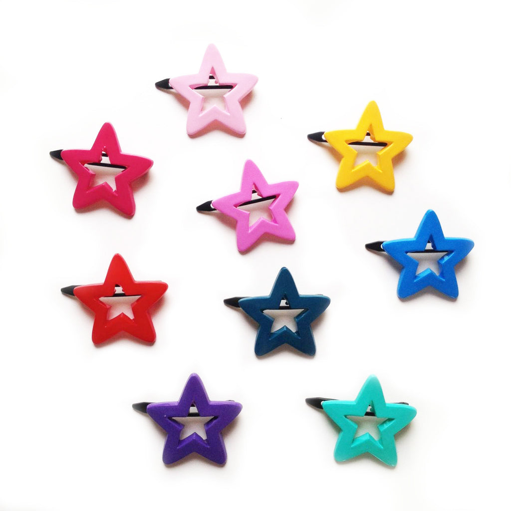 plastic star outline clip // hello shiso hair accessories for girls