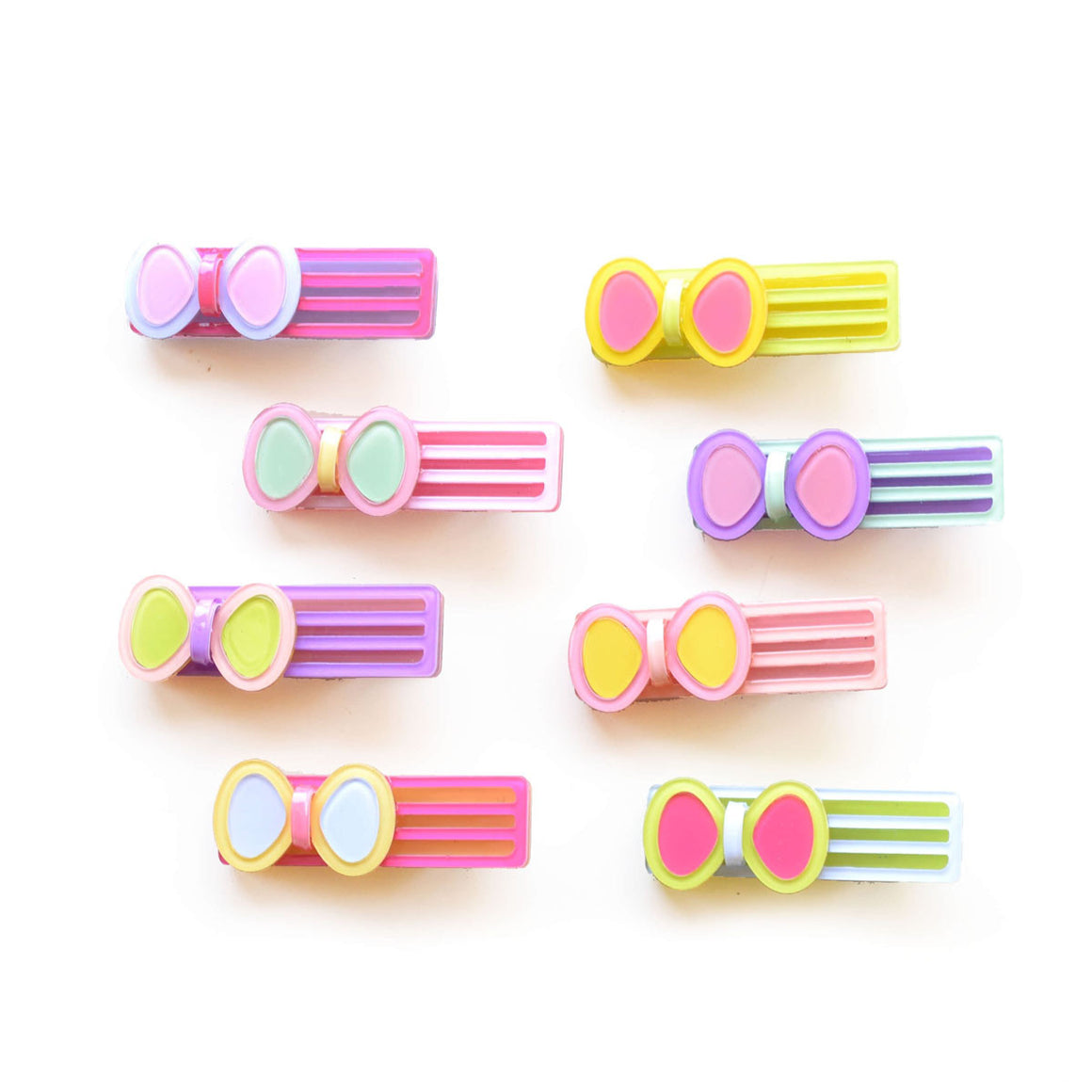 striped bow clip // hello shiso hair accessories for girls