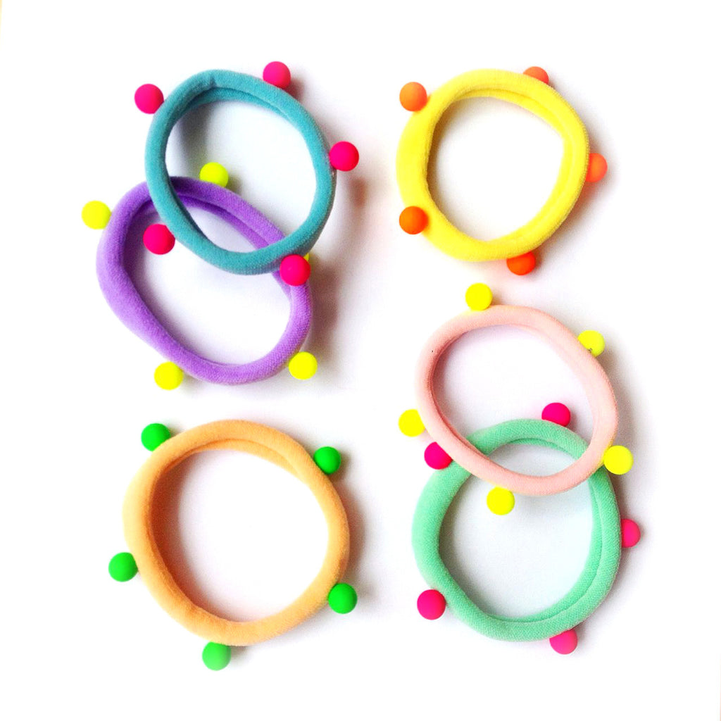 pastel/neon studded pony-o // hello shiso hair accessories for girls