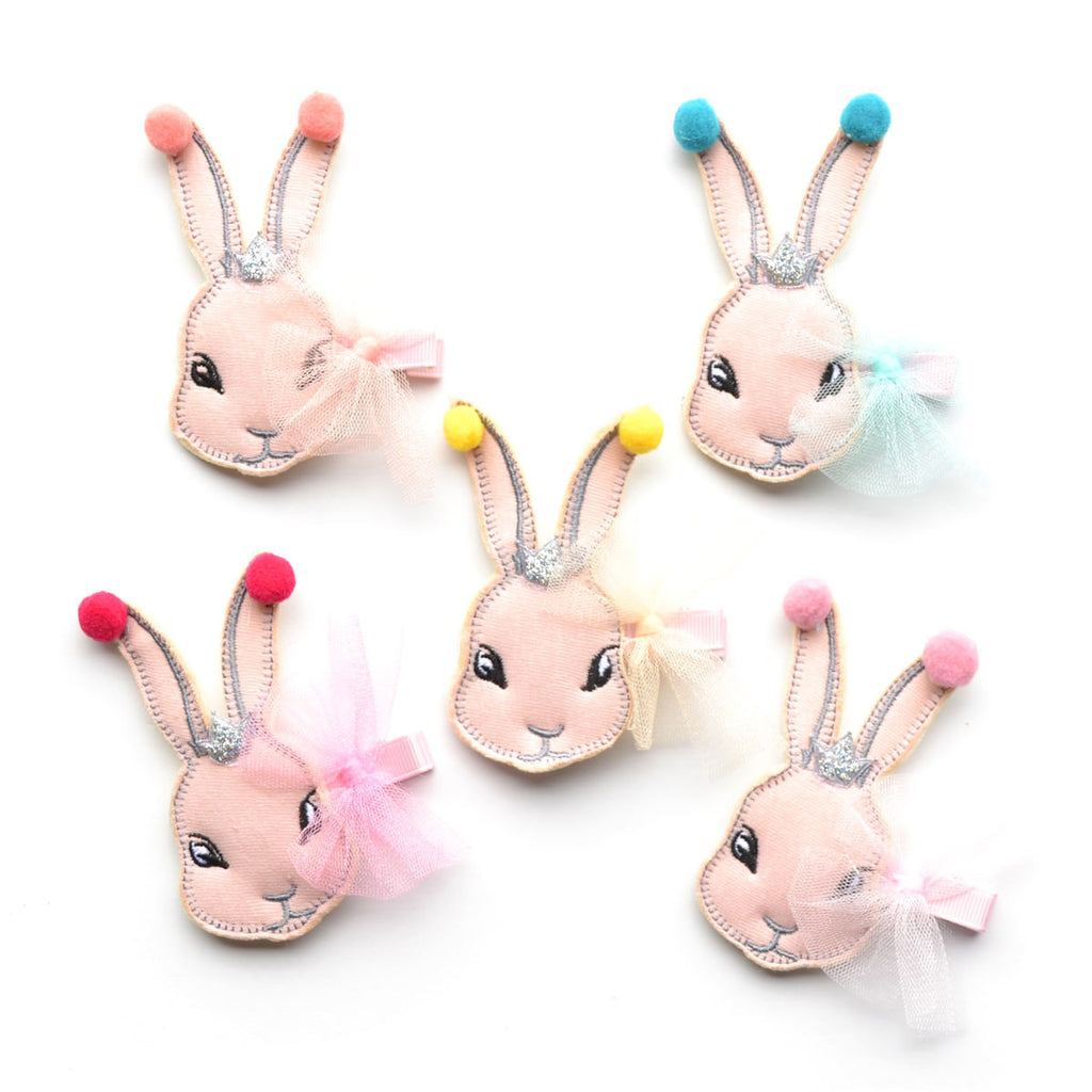 tulle Easter bunny hair clip // hello shiso accessories for girls