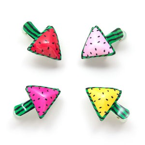 plastic watermelon clip // hello shiso hair accessories for girls