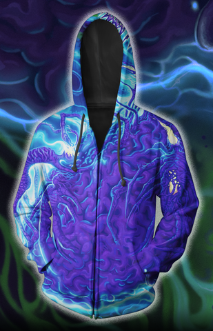 LIMITED EDITION Neuron All-Over Print Zip-Up Hoodie **6-8 WEEK SHIPPING**
