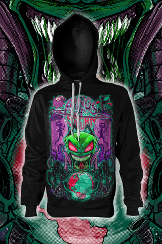 Invader Xul Pull Over Hoodie