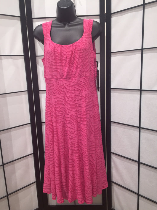 Magenta Zebra Sleeveless Dress