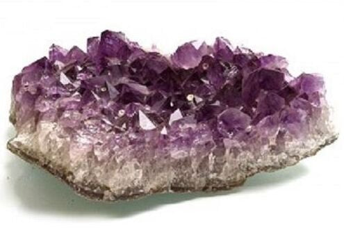 Raw Amethyst Crystal Still Attached to Stone