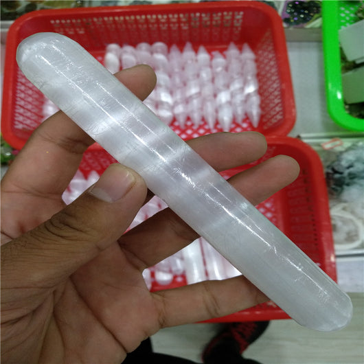 Selenite Crystal Wand For Massage