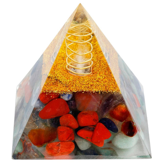 Orgone Crystal Pyramid Energy Generator for Reiki Healing