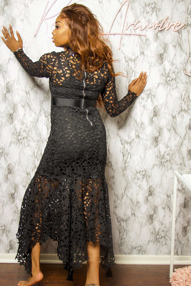 Black Widow | Lace Maxi Dress