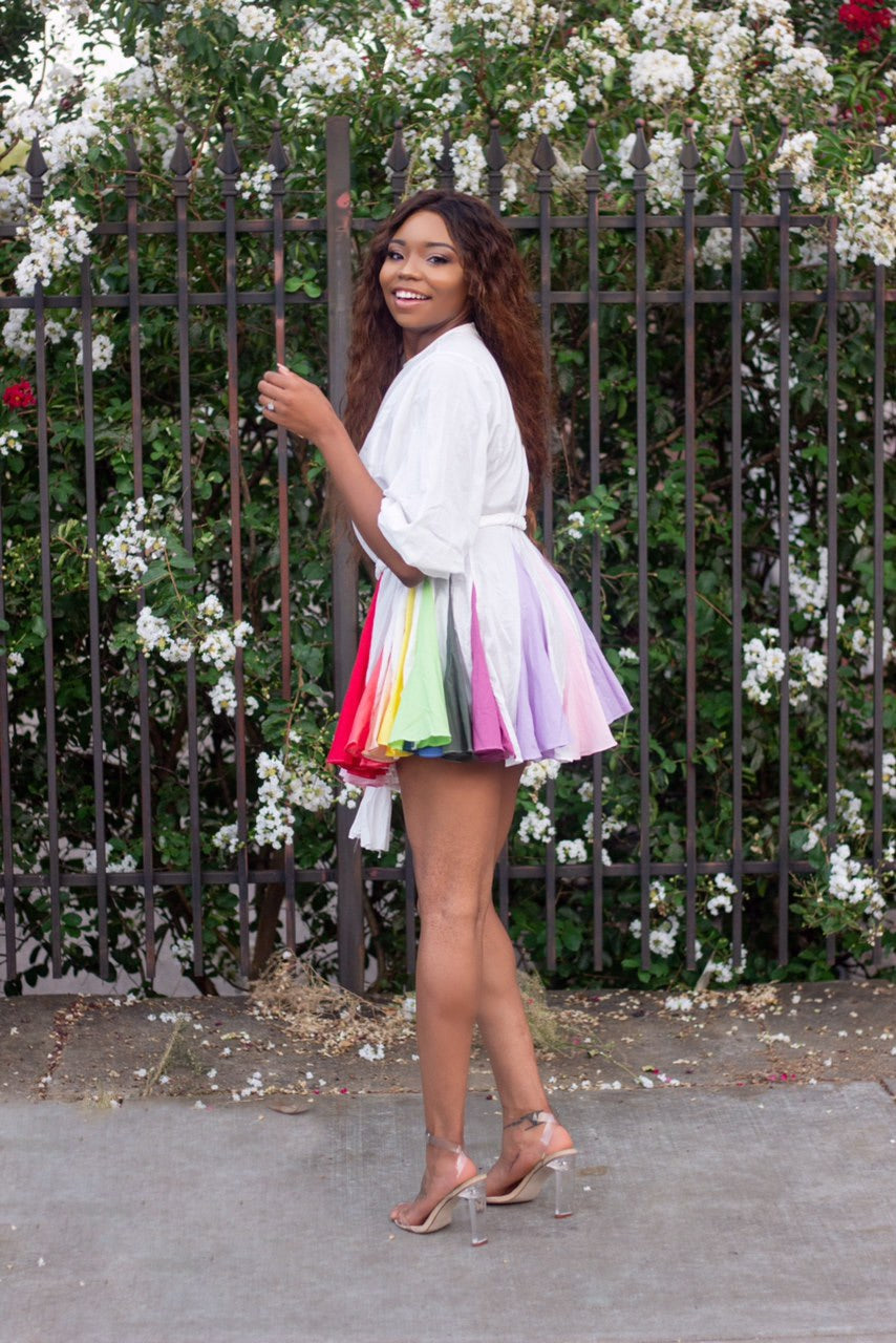 Over The Rainbow Mini Dress