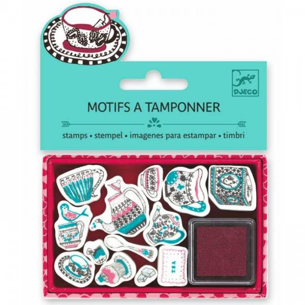 Motifs à tamponner / Tea time
