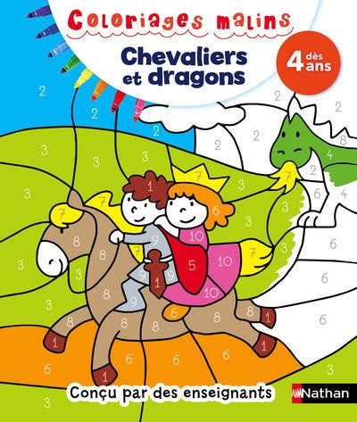 Coloriages malins - Chevaliers et dragons