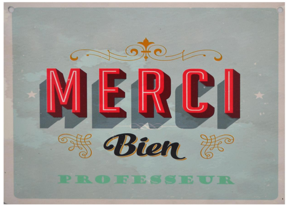 Affiche réversible bilingue - Merci