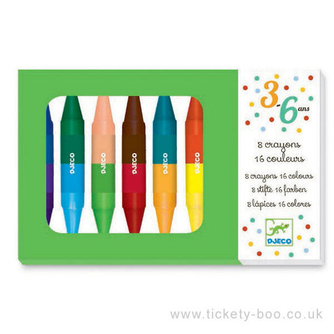 8 crayons doubles - 16 couleurs