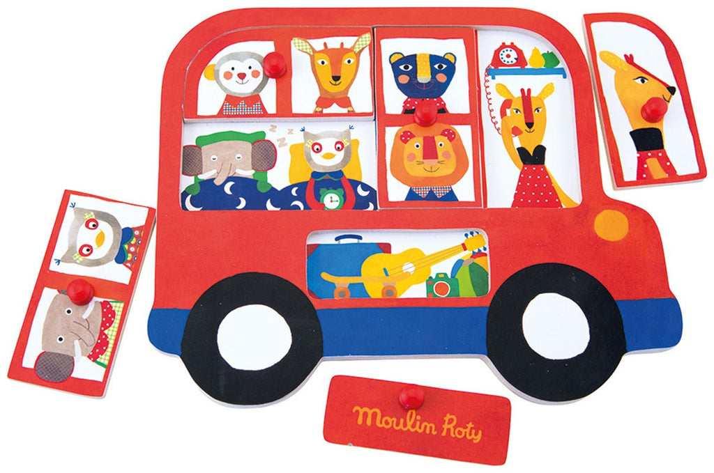 Le puzzle encastrable bus