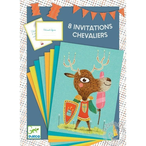 8 invitations Chevalier