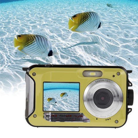 Digital Camera Waterproof 24MP, HD 1080P, 16x Zoom