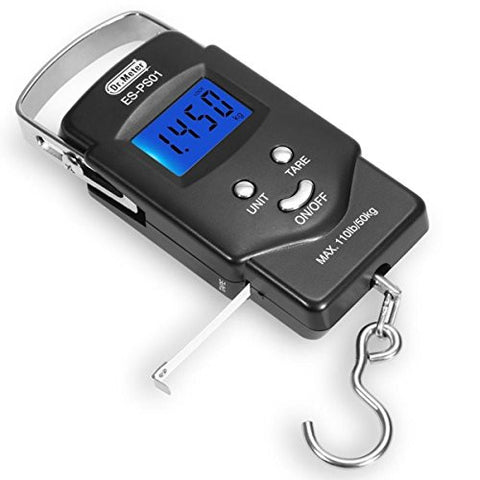 Dr.meter Portable Scale, PS01 110lb/50kg Electronic Balance Fishing Hanging Hook